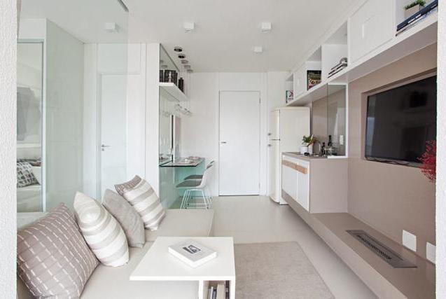 上海35㎡豪华小公寓,用玻璃们做隔断!客厅卧室厨卫一个都不少!