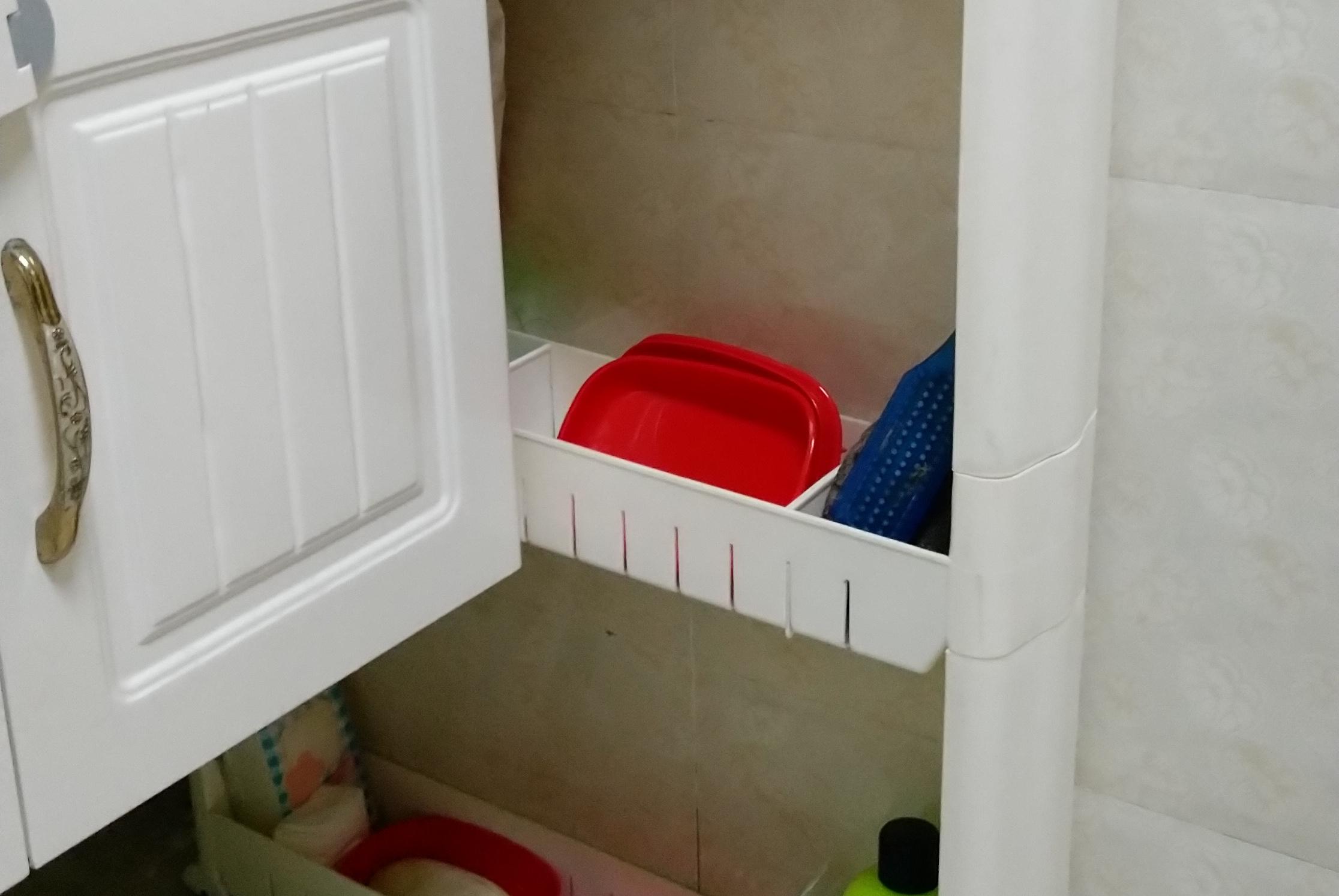 浴室柜买小了?来看看我家是怎么做的