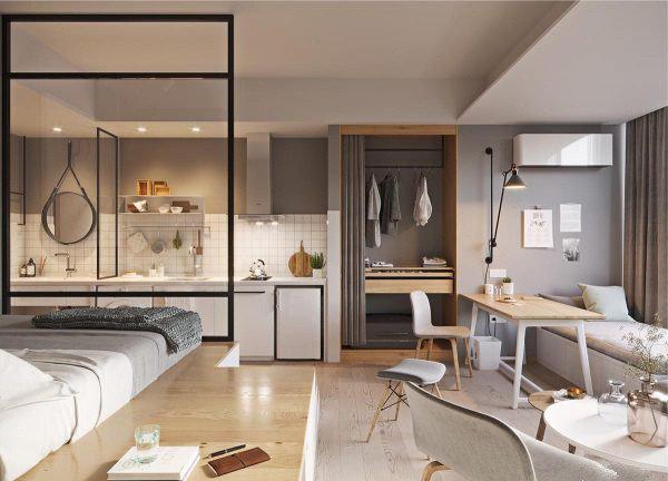 格调满满的45平米单身公寓装修实例,温馨的蜗居生活!