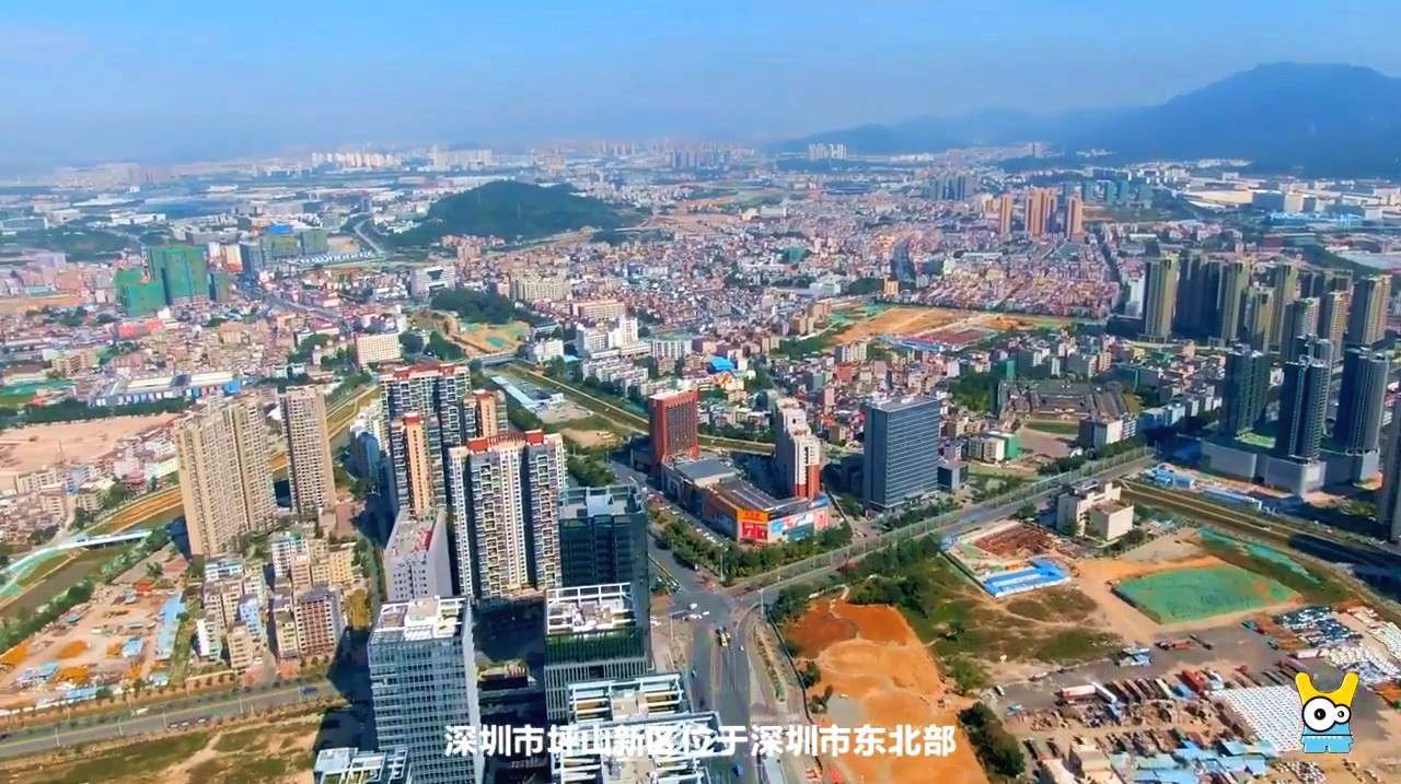 航拍:深圳市城市副中心,变化真大,坪山新区