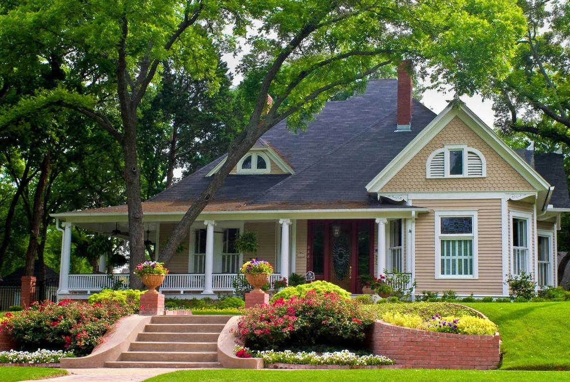 等攒够了钱,就回农村建个别墅,带个超大的庭院花园,比城里舒服