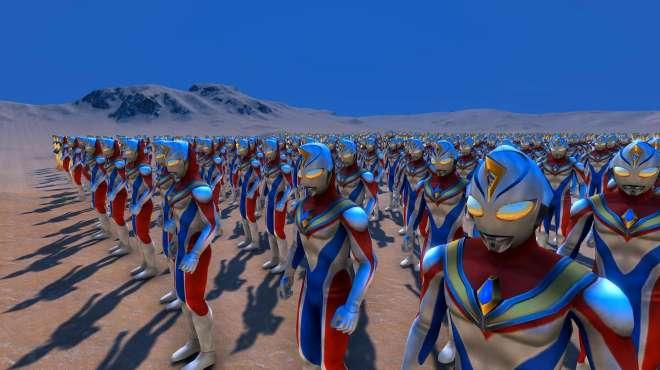 500名戴拿奥特曼如临大敌,集结在城市外围,现场发生了什么