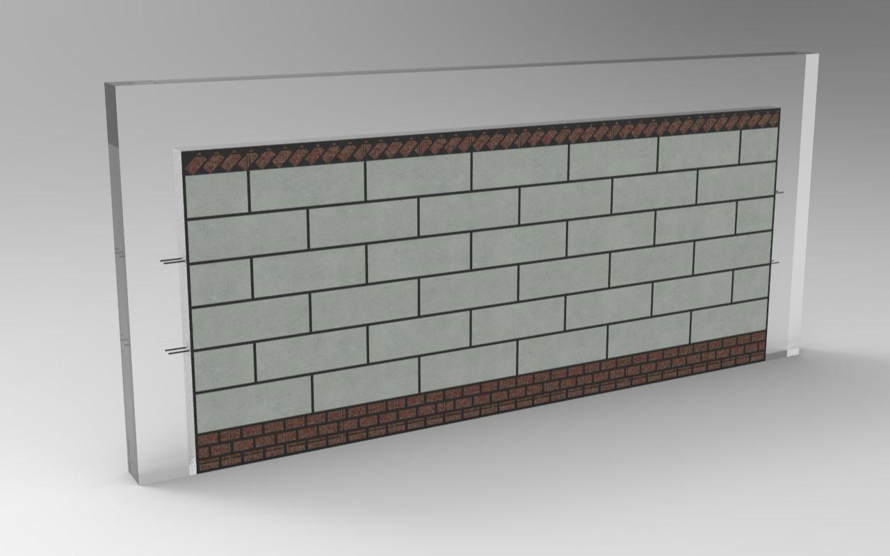 加气块砌筑施工动画