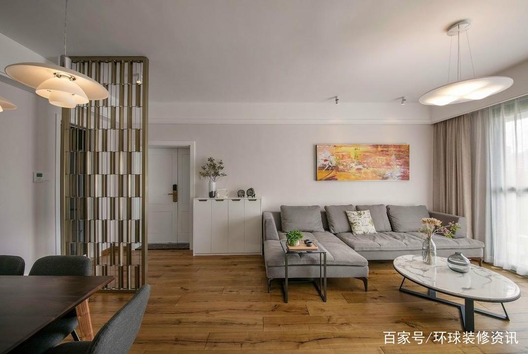 100㎡新房忙活4个月完工,前后花了22万,大理石电视墙真美艳