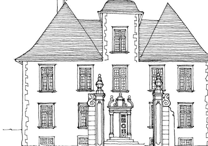 美图素材:建筑手绘线稿集分享
