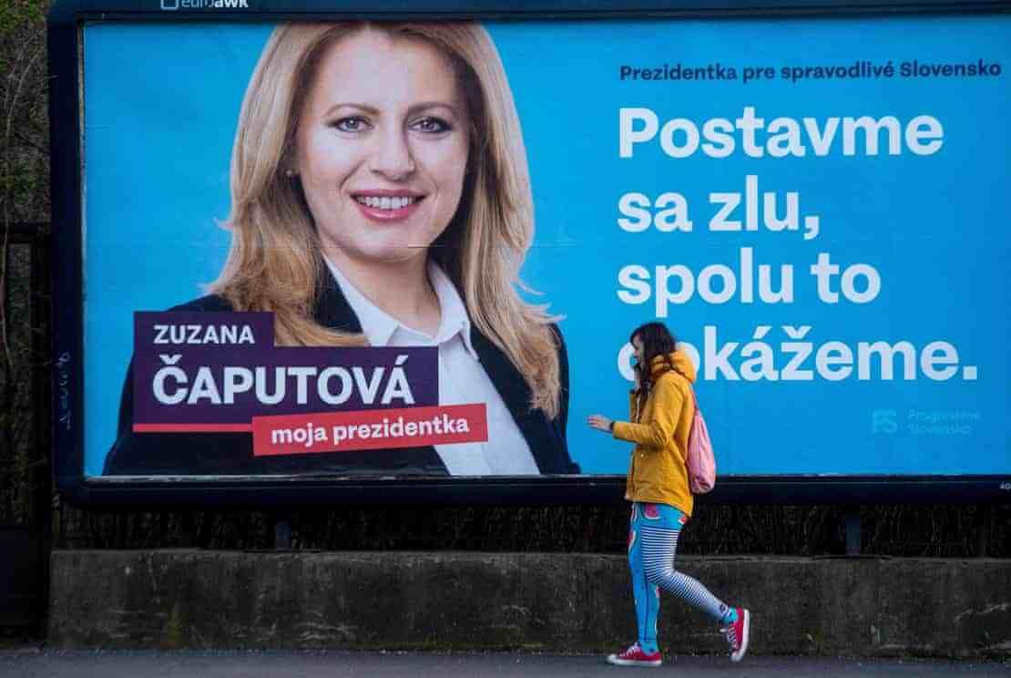 苏珊娜·卡普托娃当选斯洛伐克首位女总统