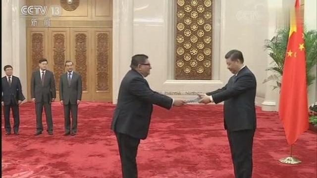 习近平接受九国新任驻华大使递交国书