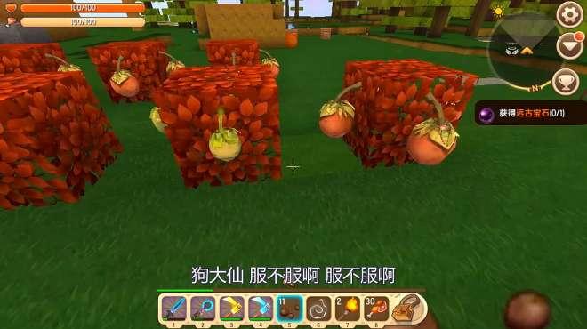 迷你世界生存210:粉丝教我把树叶换成方形的,种球球豆更好