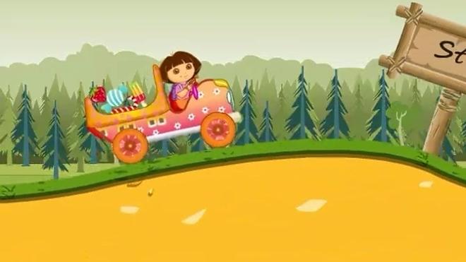 「奶泡泡」朵拉买糖用车拉?爱探险的朵拉第8季游戏