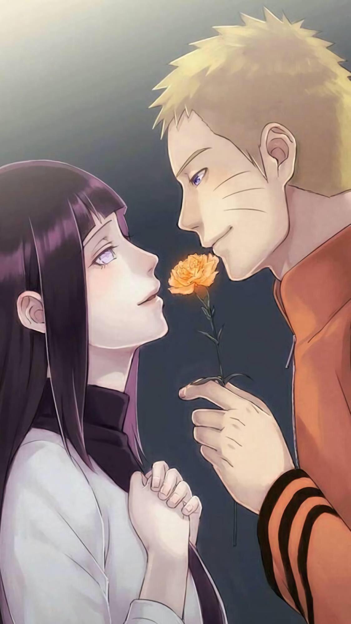 火影忍者壁纸:鸣人与雏田陪你过情人节