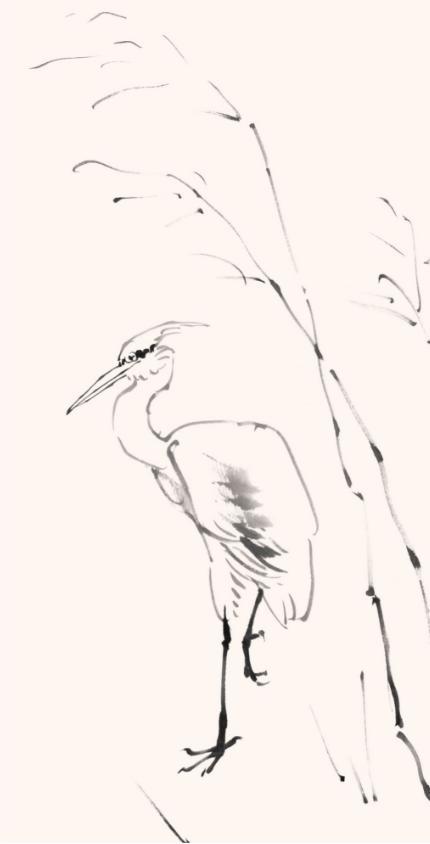 写意白鹭的画法步骤