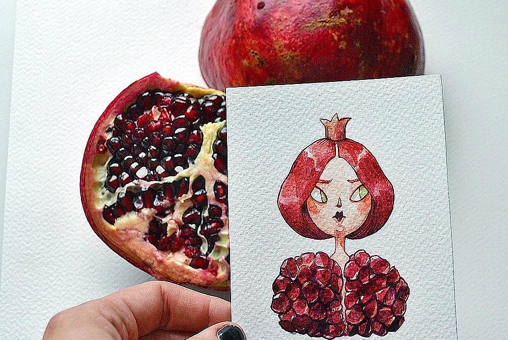 水果拟人化:画风太过另类独特,以后无法直视西瓜少女和石榴女王