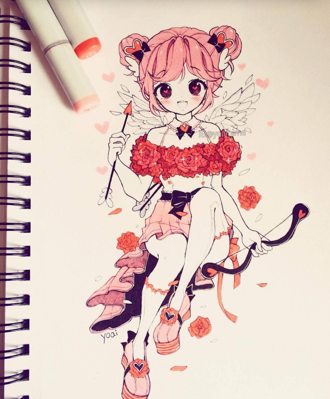 卡通手绘,可爱甜美的卡通女孩插画,萌萌哒!图片