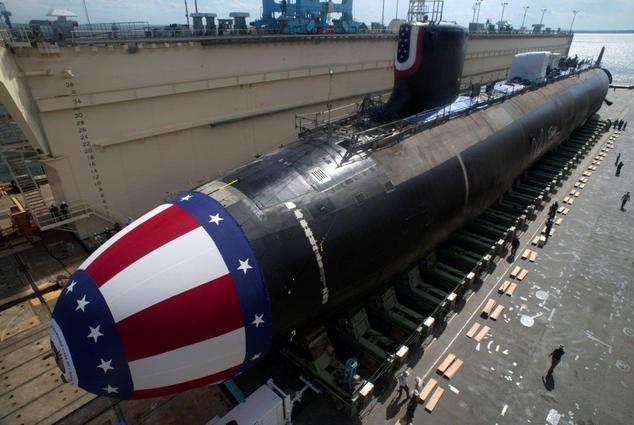 苏美争霸的产物,美军现役最大的攻击核潜艇,号称水下战狼