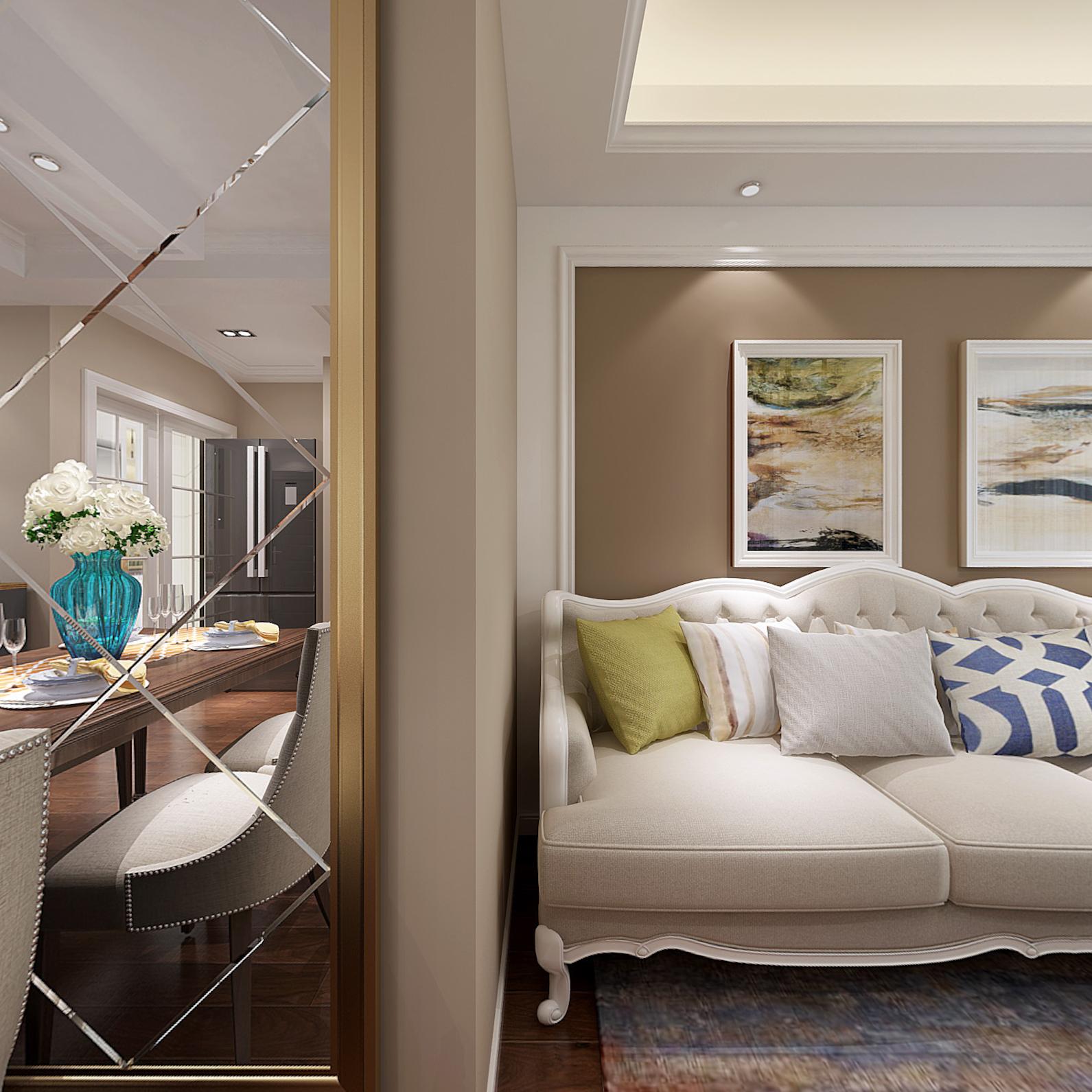 法式风格二居室装修案例,88平米的房子装修多少钱?-浦