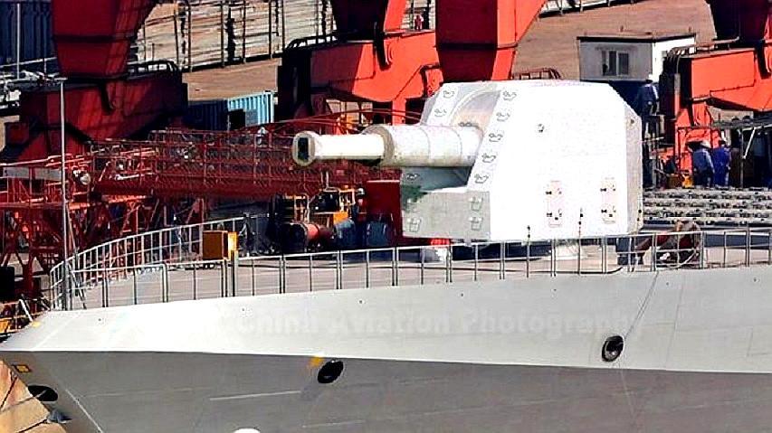 055型驱逐舰将安装电磁炮!西方网友:中国偷走了美国的时光机器
