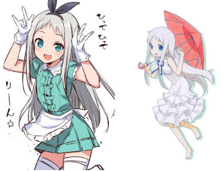 都是那种日系校园女神的类型,只不过图左好像看着更加呆萌一点.