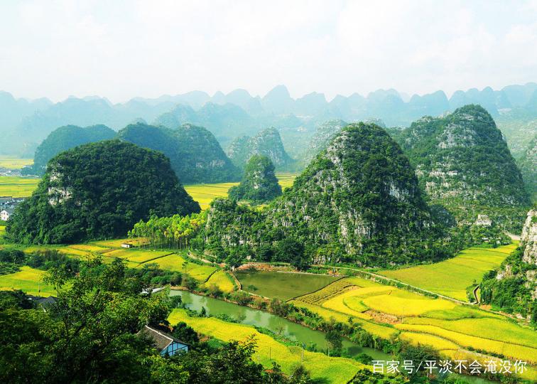 万峰林,有雄壮的风采,充满诗情画意!