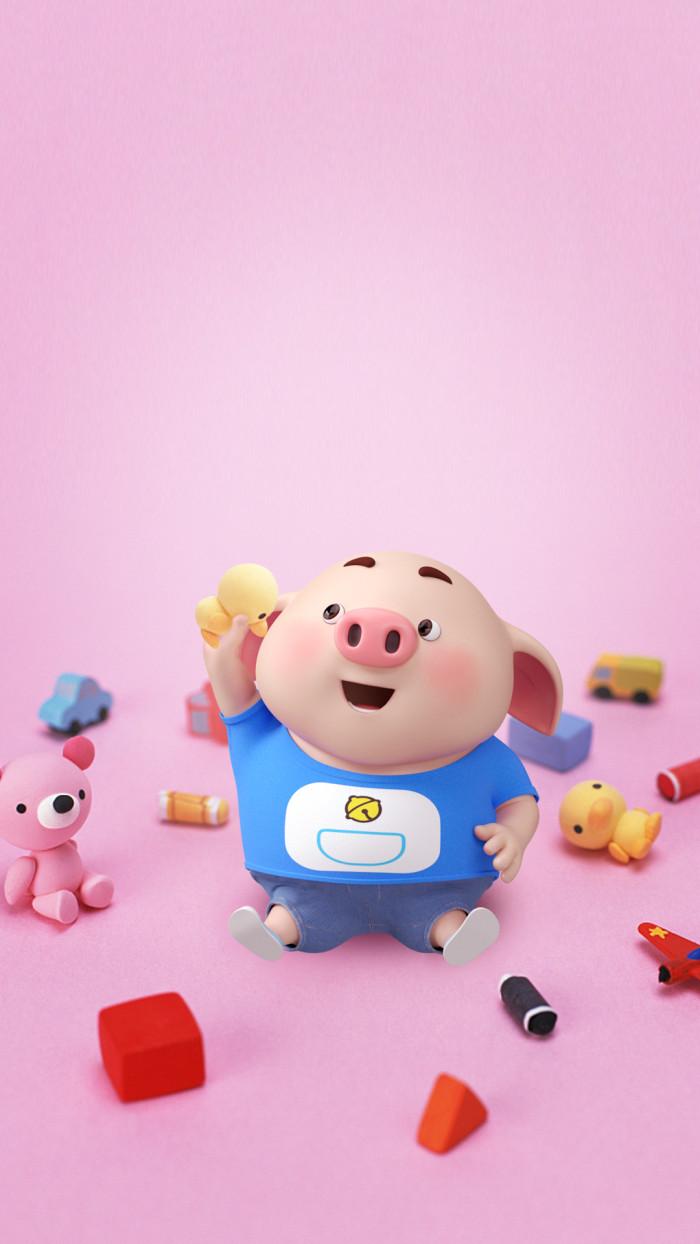 可爱呆萌的小猪手机壁纸,张张都好好看(第二部分)图片
