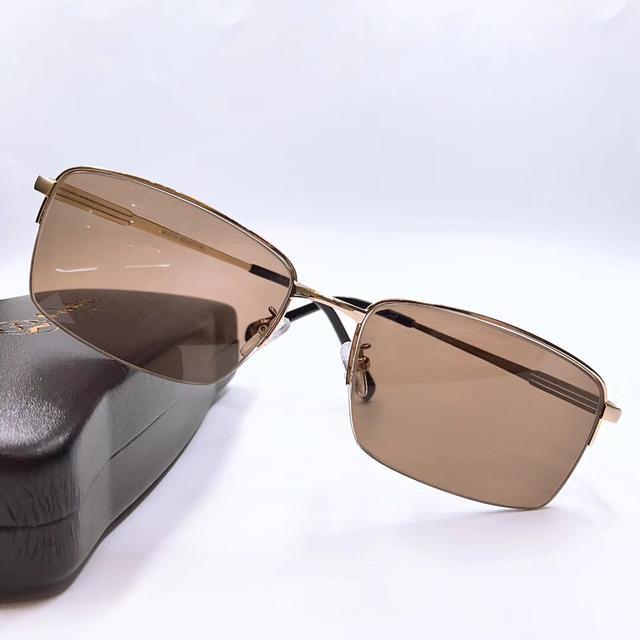玛莎拉蒂男款18K RGP框架时尚方形百搭水晶眼镜