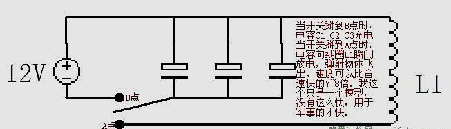 简单的线圈炮电路图