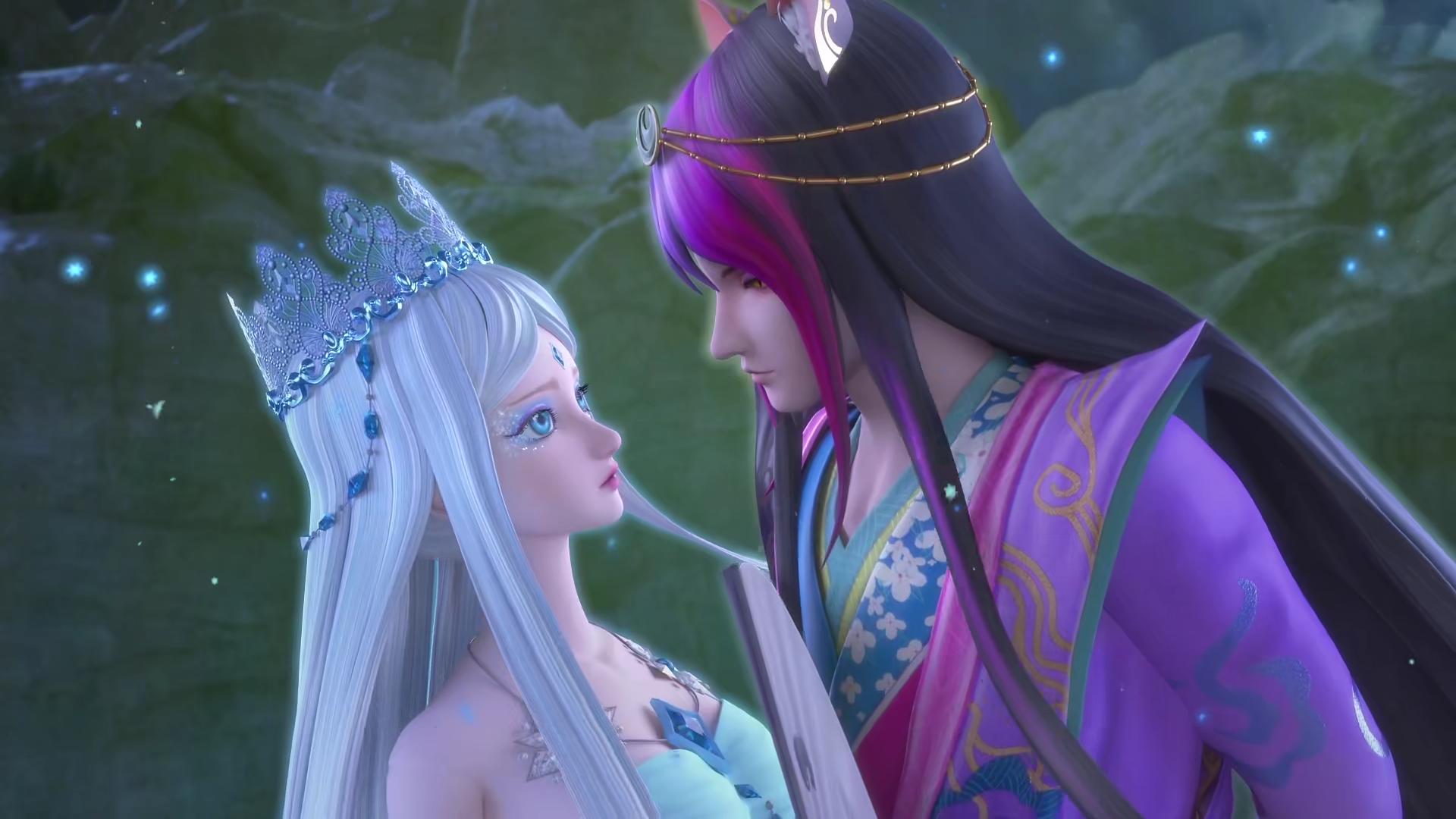 精灵梦叶罗丽中的5大亲密瞬间,冰公主占了两个,水王子王默最甜图片