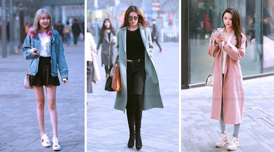 街拍:三里屯春季潮拍让时尚美女们更懂得服装搭配