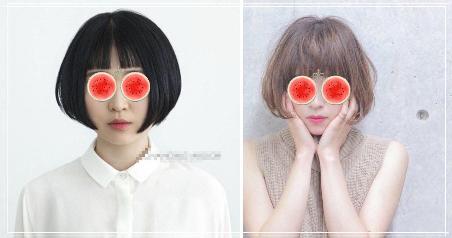 而这种包住蘑菇的发型头脸颊短发,也是很理发妹子脸短发的,让你秒小女孩适合发型大饼图片