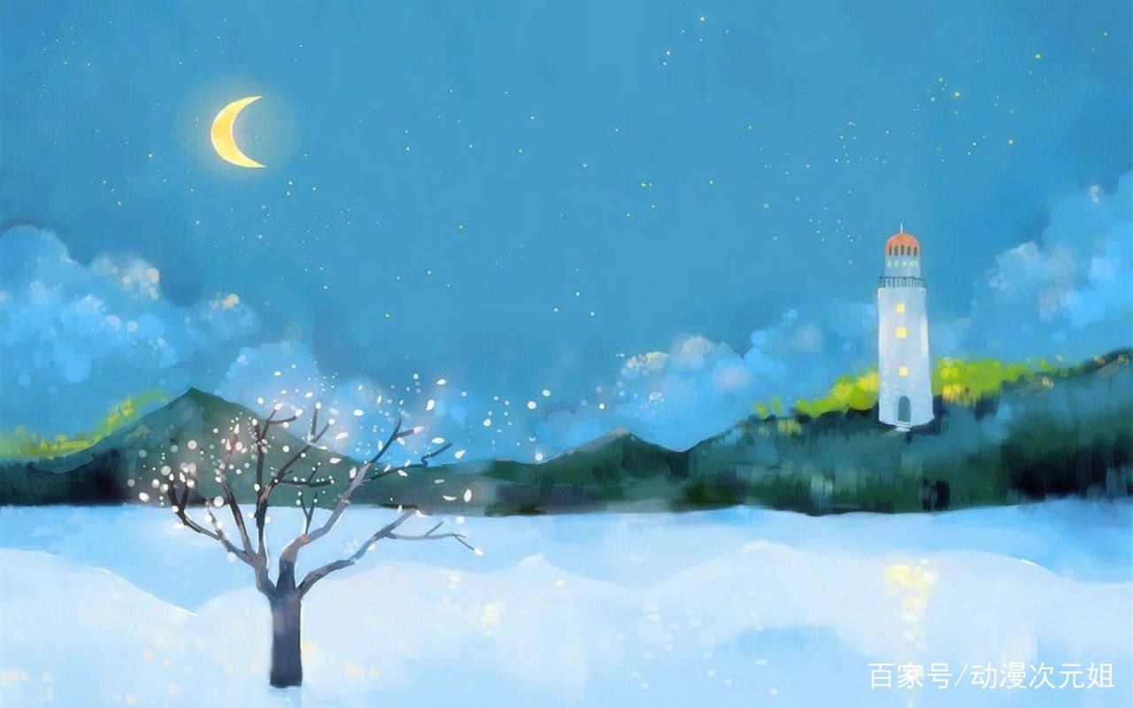 动漫壁纸:唯美感十足的风景插画,每一幅都值得收藏