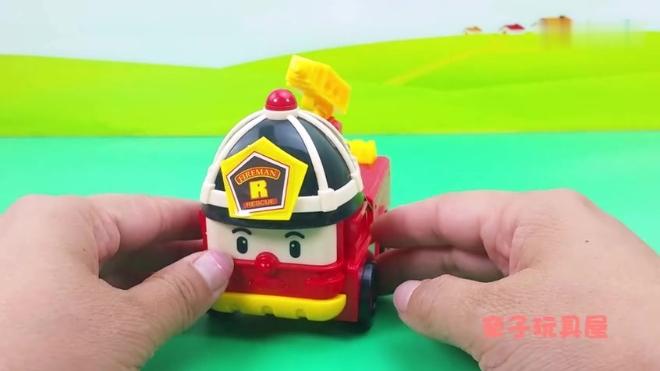 变形警车珀利豪华套装卡通玩具