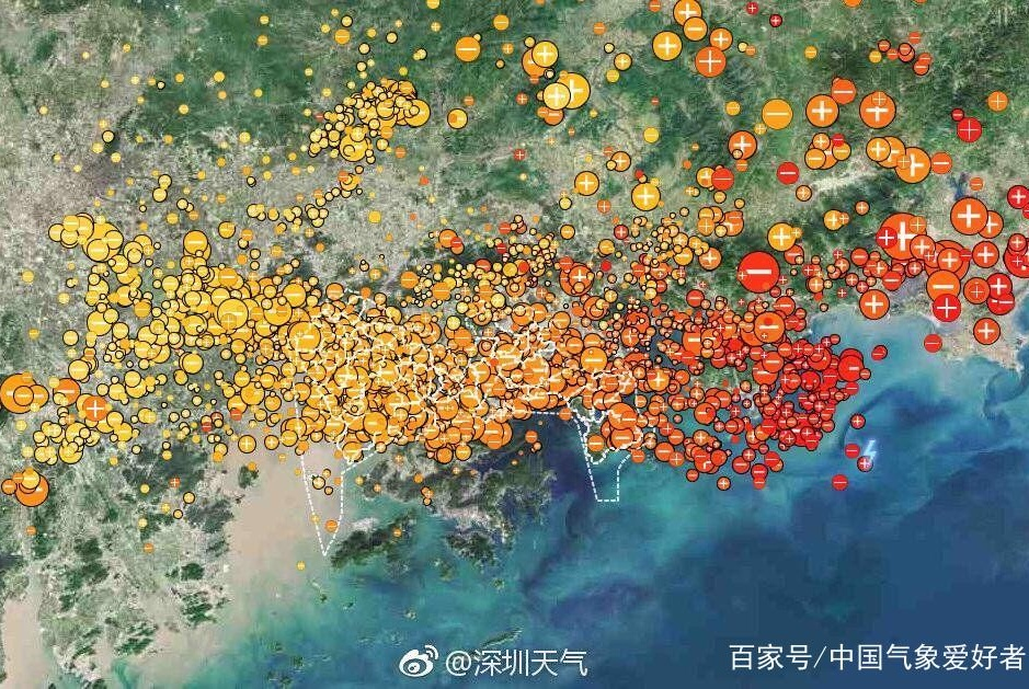 """接近1000次雷电!深圳遭遇""""闪电风暴"""",影响堪比台风山竹"""