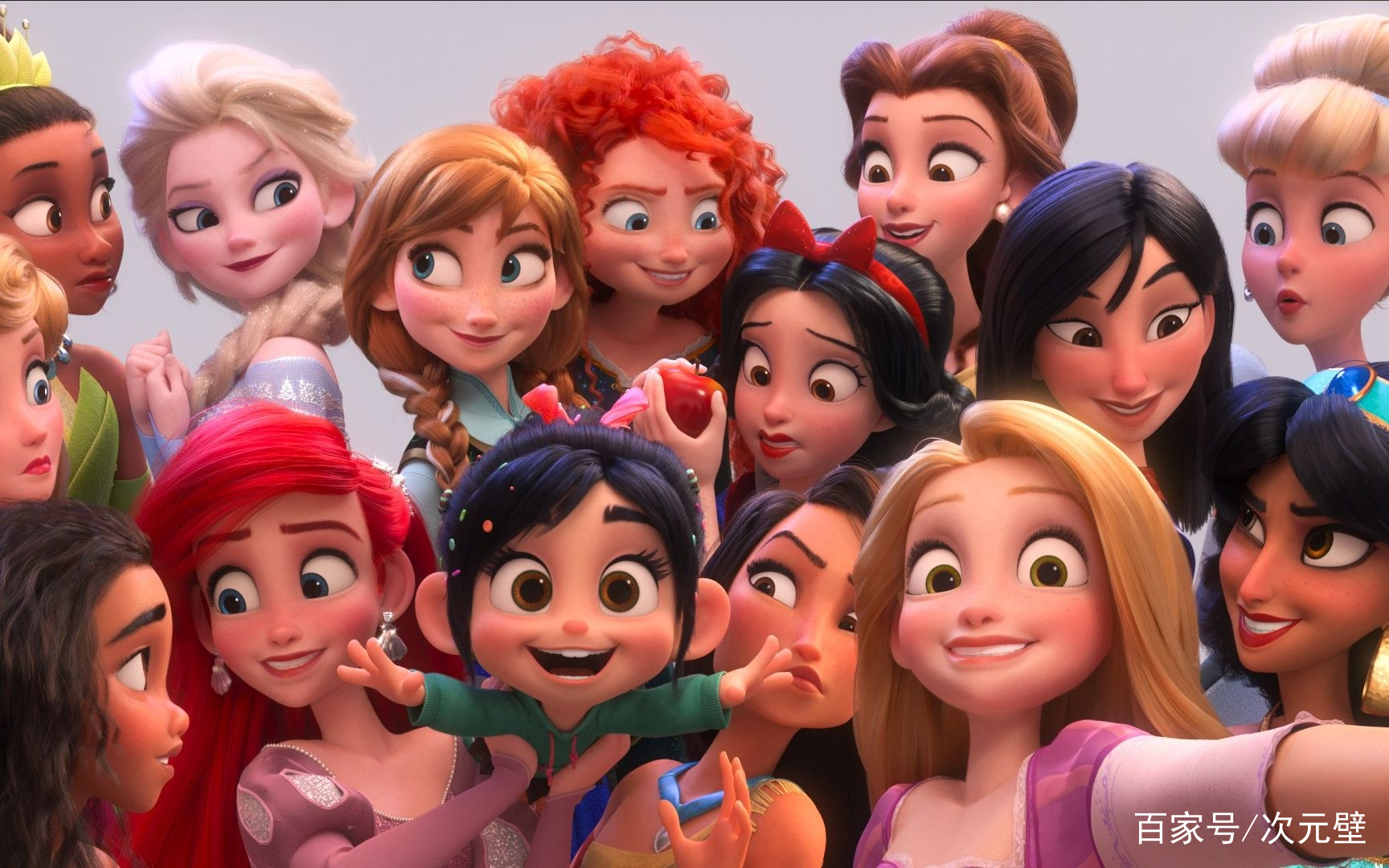 """迪士尼公主最新形象对比,白雪堪比整容,灰姑娘变""""泼妇"""