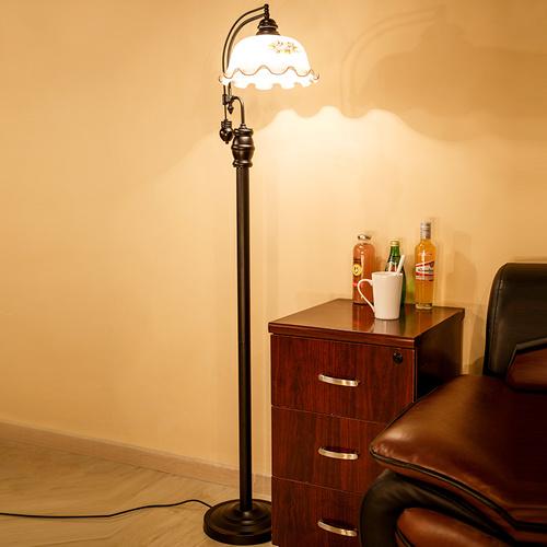 铁艺田园欧式美式复古落地灯客厅卧室床头书房落地台灯老上海创意