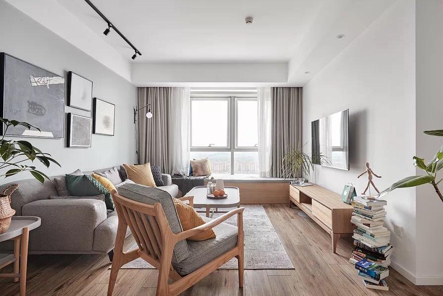 110㎡北欧风三居室,用绿植营造简约自然的氛围,让人无限放松