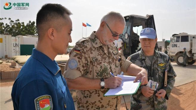 中国维和直升机分队顺利通过新年度首次装备核查