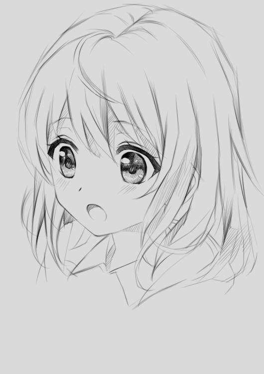 手绘教程:动漫短发女生 表情萌萌哒