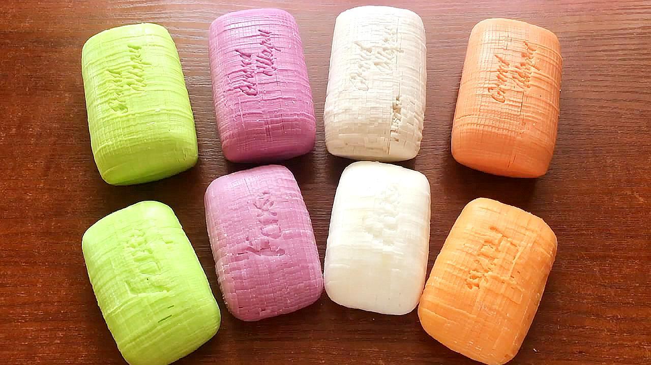 刮马赛克香皂,看着香皂颗粒掉下来,感觉超酸爽!