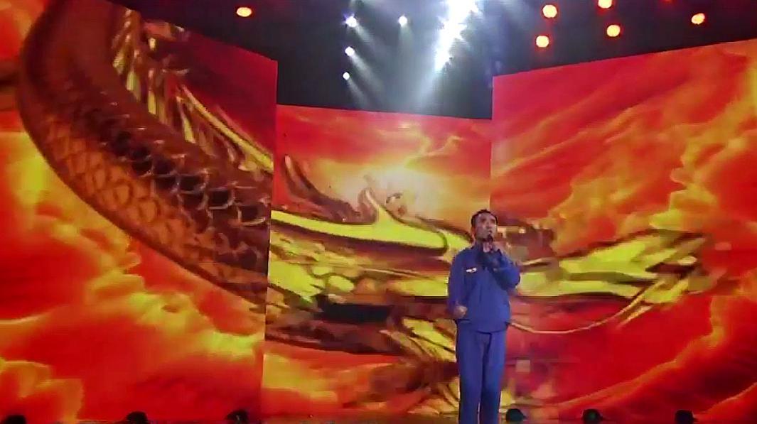 49岁修工理登台央视,一首《中国龙》气势澎湃,评委:堪比原唱