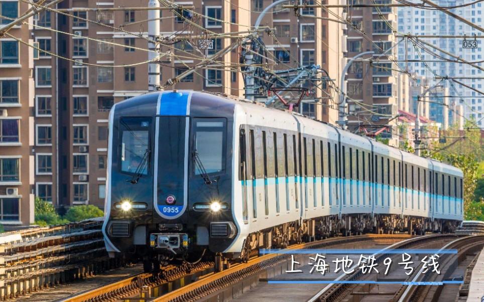 上海地铁9号线商城路(松江南站方向)进站