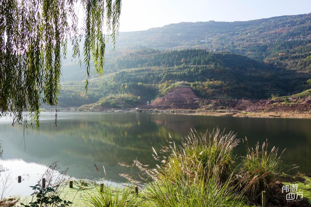 重庆开州:冬天的南河,青山绿水,安静祥和