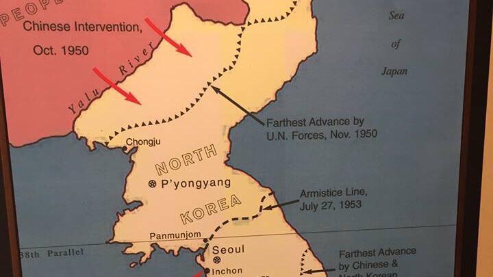 一张朝鲜战争的地图引起国外网友热议:中国、美国如何走?