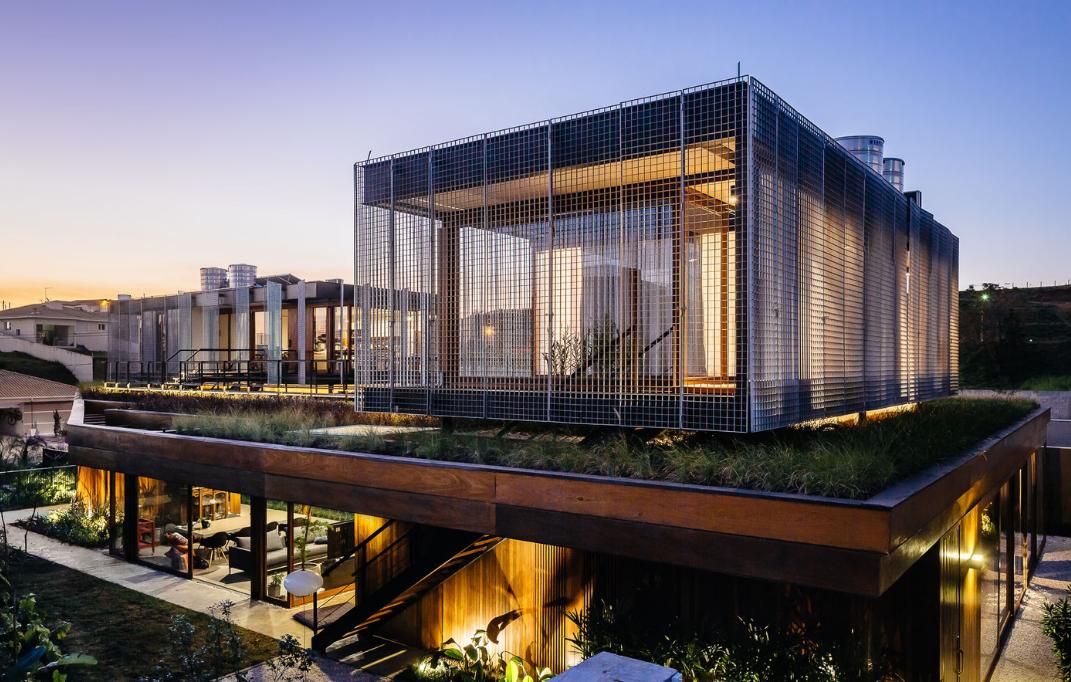 家居:一个架空庭院,钢木结构乡村自建别墅住宅设计案例图片