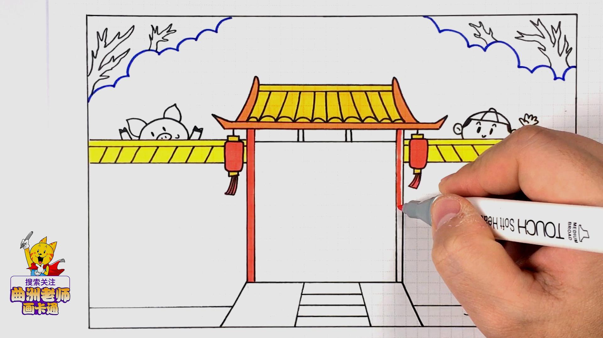 2019年春节手抄报视频教程来了,为了孩子赶紧收好图片