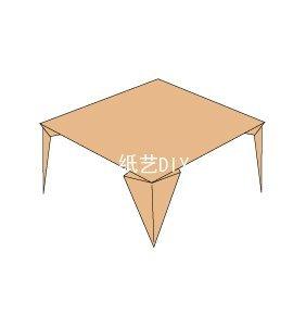 简单易做的正方形小桌子折纸教程