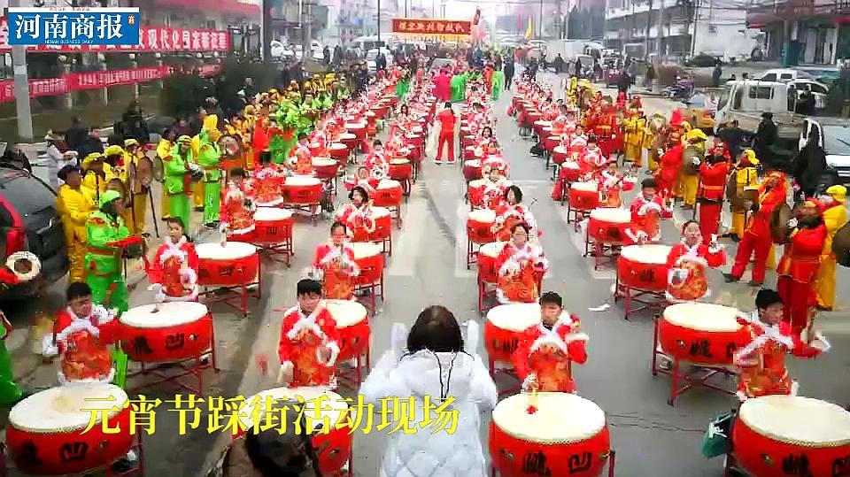 400人的锣鼓队,88岁老太太扭秧歌……孟津县红红火火闹元宵!