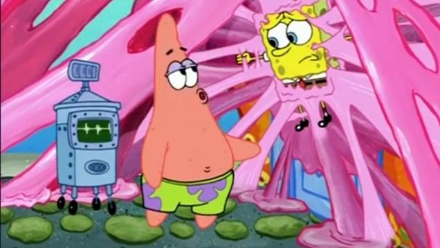 海绵宝宝: 派大星实在太强大了, 居然将这么多的口香糖都吃了