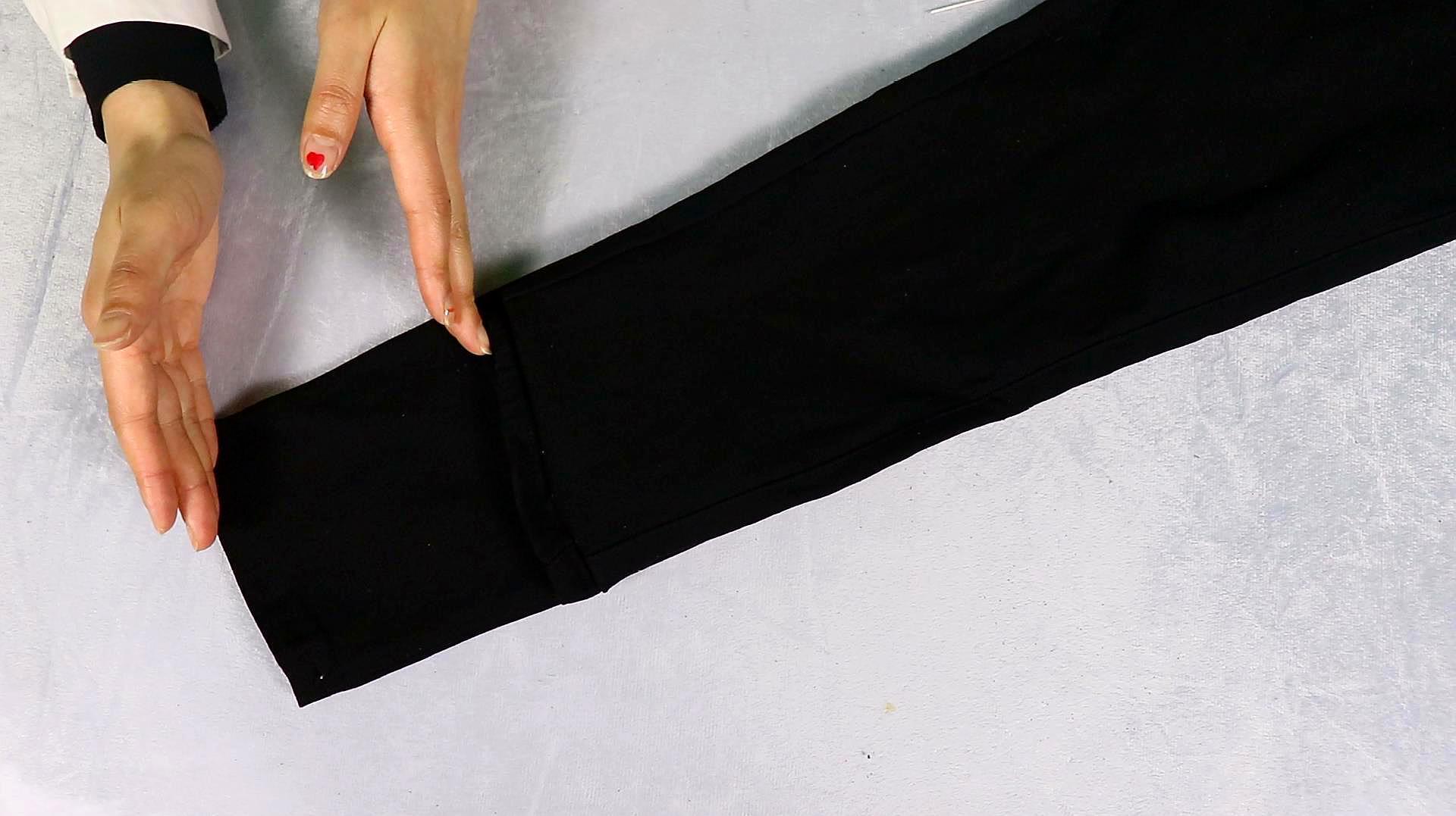 裤脚太长不用剪,教你隐形无痕缝法,简单实用,不用花钱请人改了