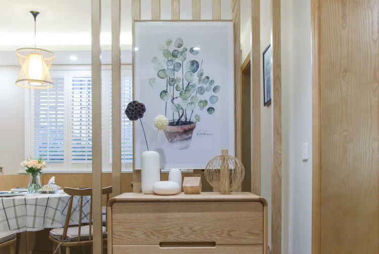 88㎡二居室,利用拐角空间巧装卡座式餐厅,不浪费空间还倍儿实用