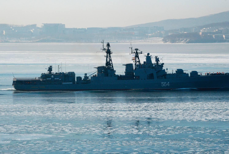 俄罗斯军舰在日本海开炮,连续五天,日本海自大气不敢出