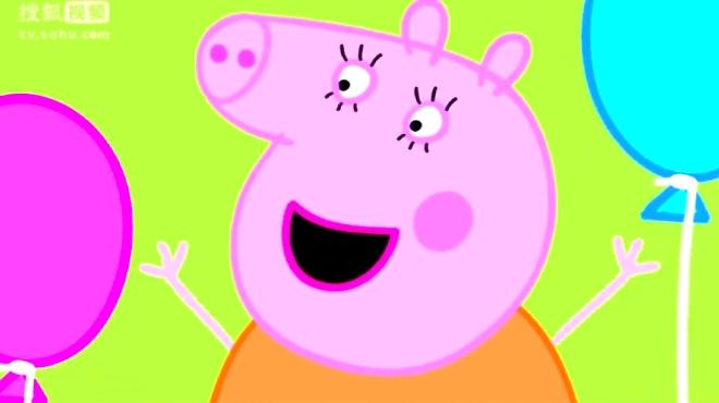 妈妈生日��.d_猪爷爷和猪奶奶也来给猪妈妈过生日,猪爸爸准备了蛋糕
